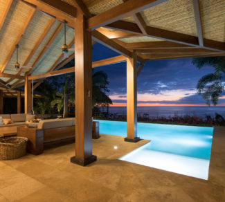 Casa Brisas del Cabo | Sunset View | Pool Lighting | Alvarez Arquitectos | Malpais, Costa Rica