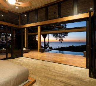 Casa de la Tierra y el Mar | Bedroom sunset view | Alvarez Arquitectos | Malpais, Costa Rica