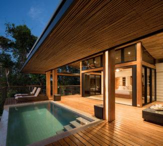 Casa de la Tierra y el Mar | Deck and Pool Ilumination | Alvarez Arquitectos | Malpais, Costa Rica