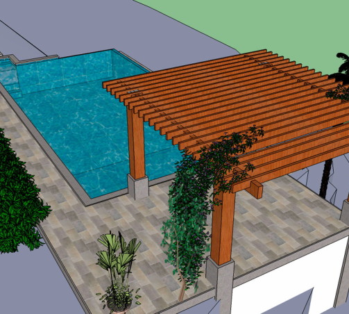 Pool in Progres|Side view | AlvarezArquitectos| Costa Rica.
